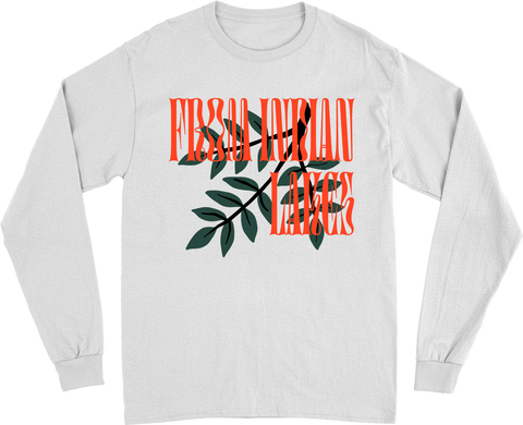 Tree Branch White Long Sleeve
