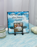 Personalized  Memorial Plaque Photo Slate