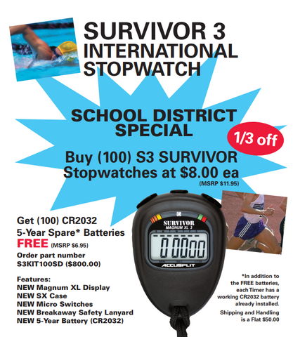 SURVIVOR 3 International Stopwatch Package