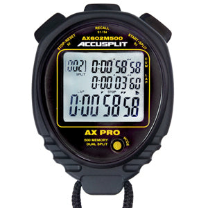 AX602M500 - 500 Memory Stopwatch/Miles/KM/Pacer and more