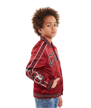 Load image into Gallery viewer, Cult of IndividualityKid's Cult Varsity Jacket in Burgundy