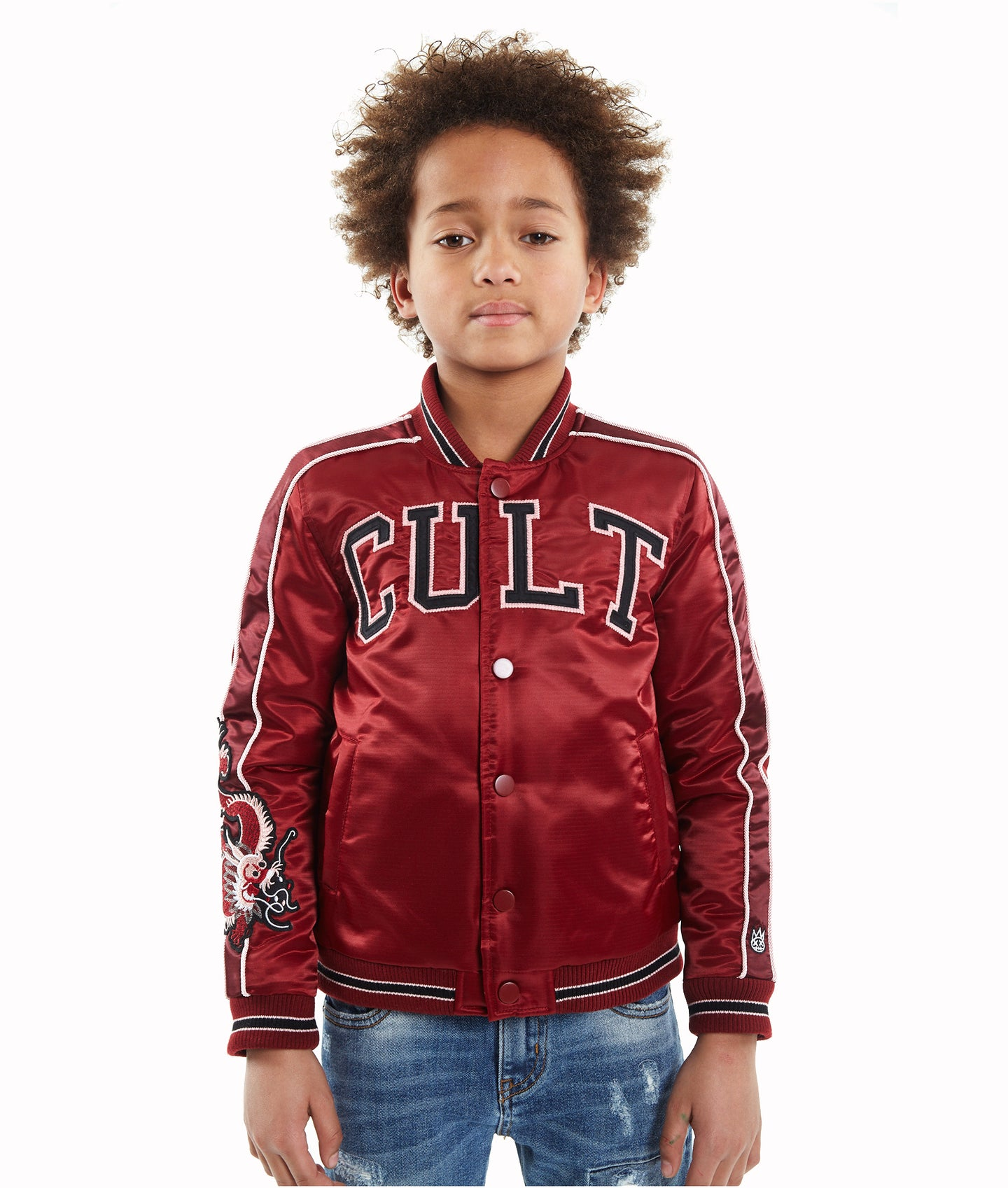 Cult of IndividualityKid's Cult Varsity Jacket in BurgundyXL