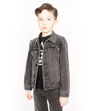 Load image into Gallery viewer, Cult of IndividualityKid's Denim Jacket Stretch in Vintage Black2