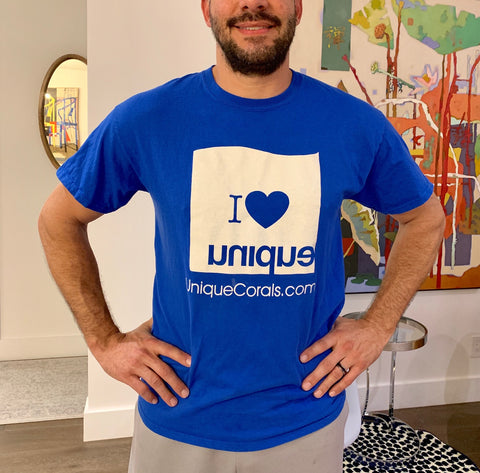 """I heart Unique"" blue tee T-shirt"