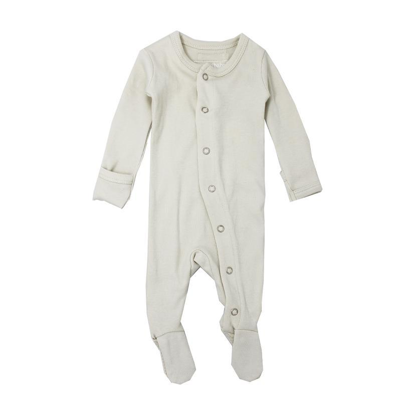 L'oved Baby Stone Organic Footed Overall