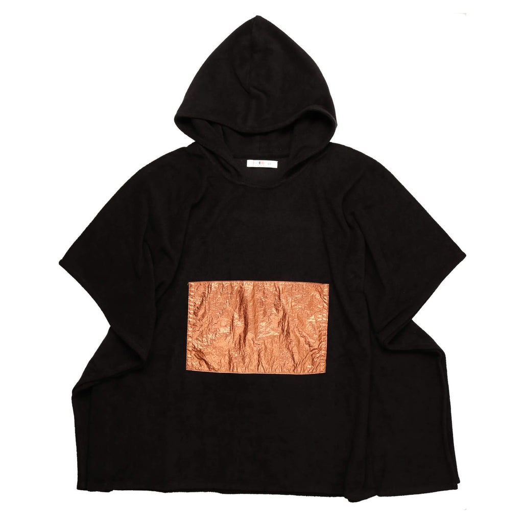 Coco Blanc Black/Rose Gold Girls Terry Poncho