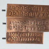 Alphabet Capitals 5mm, with  Numbers, Ampersand, large block letters, Big easy to read,  Arial stamps, metal stamping, initial stamping. - Romazone