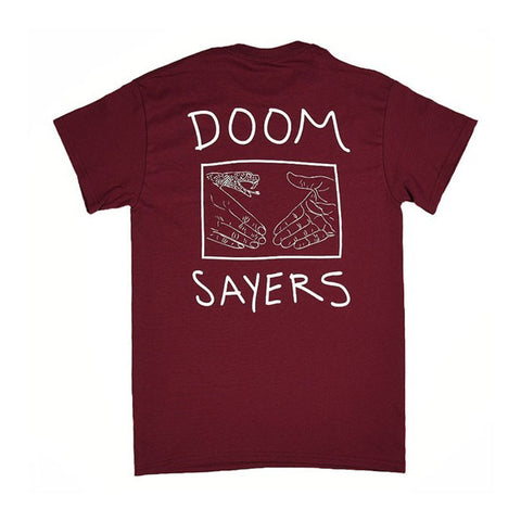 Doom Sayers Club Tee - Snake Shake - Burgundy - Hemley Skateboarding