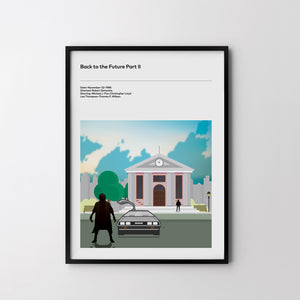 Back To The Future Part 2, Art Print, Movie Film Posters Classic Michael J Fox - SOA State of Art