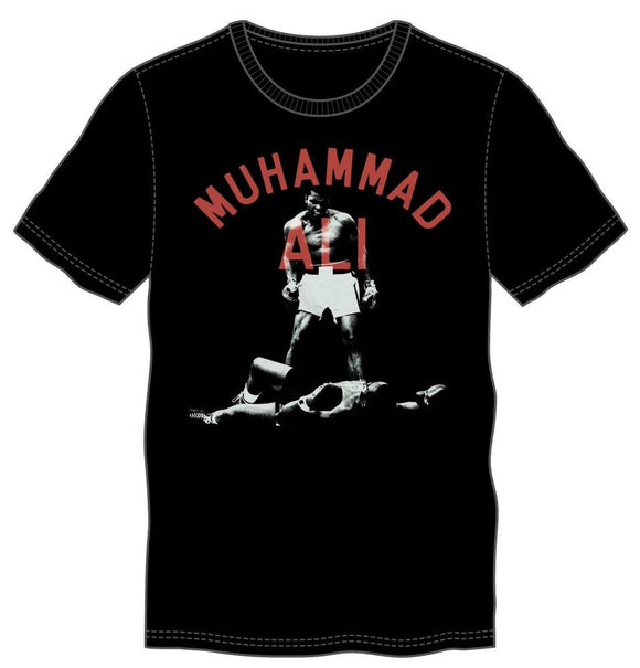 Muhammad Ali Men's Black Tee - The greatest boxer - 9figures, , Muhammad Ali, 9figures