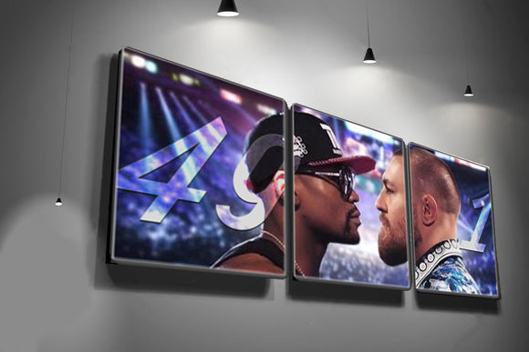 Mayweather vs Mcgregor 49-1 Wall Canvas (Set of 3) - 9figures, Canvas Wall Art Set, teelaunch, 9figures