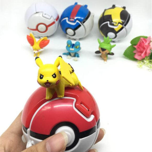 Pokeball with 6 pokemon (3-5cm) - 9figures, Figure, 9figures, 9figures