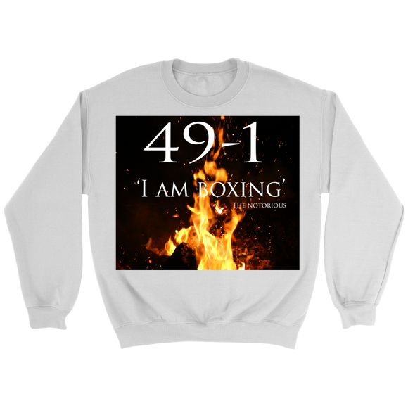 CONOR MCGREGOR 49-1 SWEATER: I AM BOXING - UNISEX - 9figures, T-shirt, teelaunch, 9figures