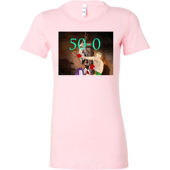 Mayweather 50-0 T-shirt - Female - 9figures, T-shirt, teelaunch, 9figures