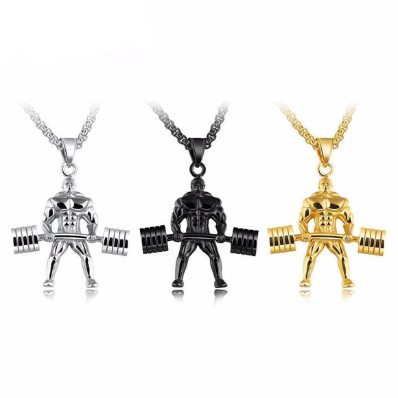 StrongMan Stainless Steel Pendant - 9figures, Pendant Necklaces, TENGYI Store, 9figures