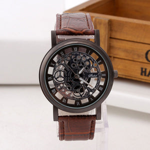 Leather Skeleton Watch - 9figures, Quartz Watches, FRANKABBY Store, 9figures