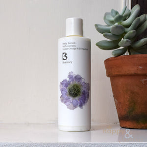 Juniper, Sweet Orange & Bergamot body lotion by Bramley Products