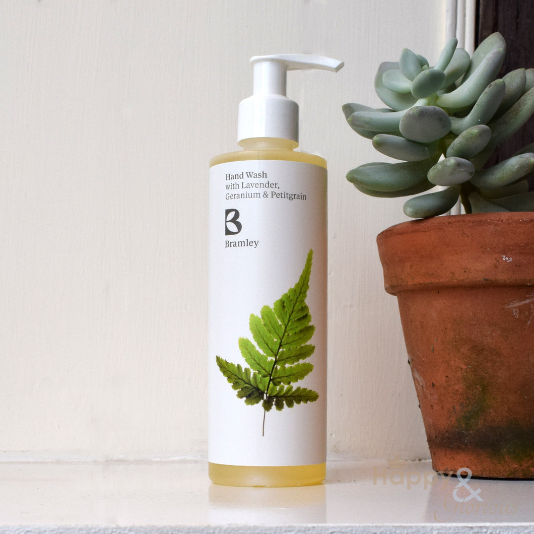 Lavender, Geranium & Petitgrain hand wash by Bramley Products