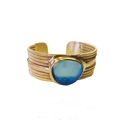 EGYPTIAN QUEEN Cuff: Chalcedony