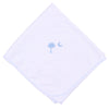 Essentials Blue Palmetto Baby Embroidered Receiving Blanket