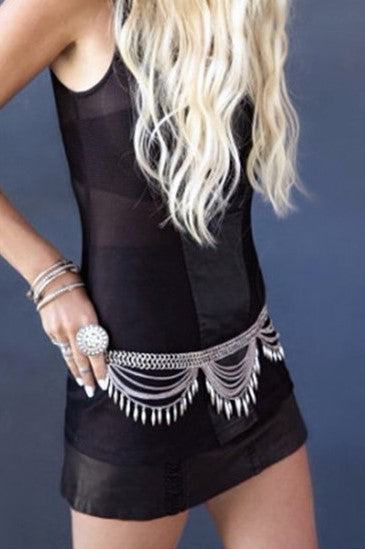 Boho Belly Chain - burningbabeclothingco