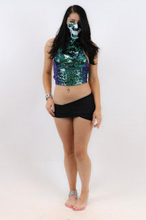 Skull Rave Mask With Matching Tank - burningbabeclothingco