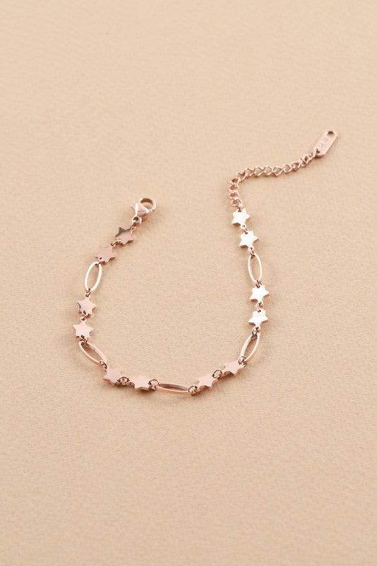 Rose Gold Shoot for the Stars Bracelet