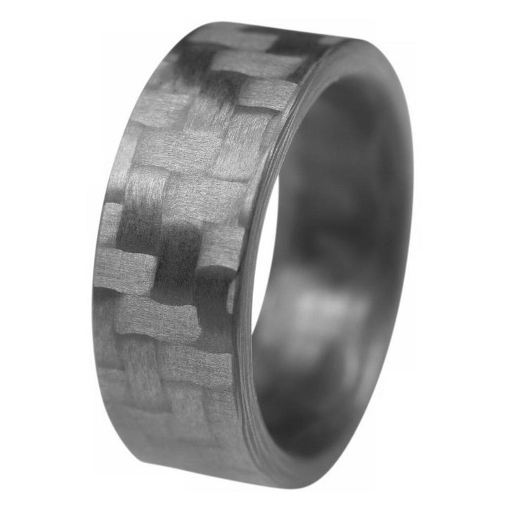 The Racer - Twill Carbon Fiber Ring