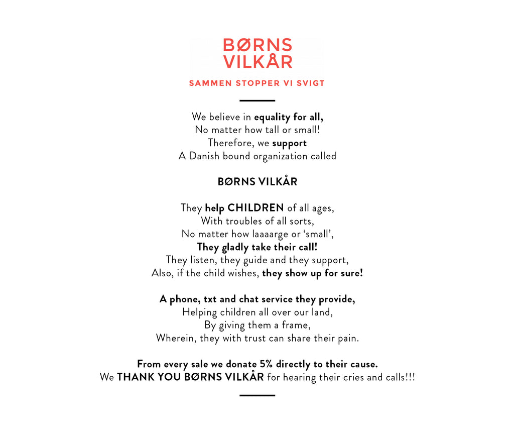 With every purchase you help support BØRNS VILKÅR. With every To Go Coffee you'll be leading the way for our kids futures!