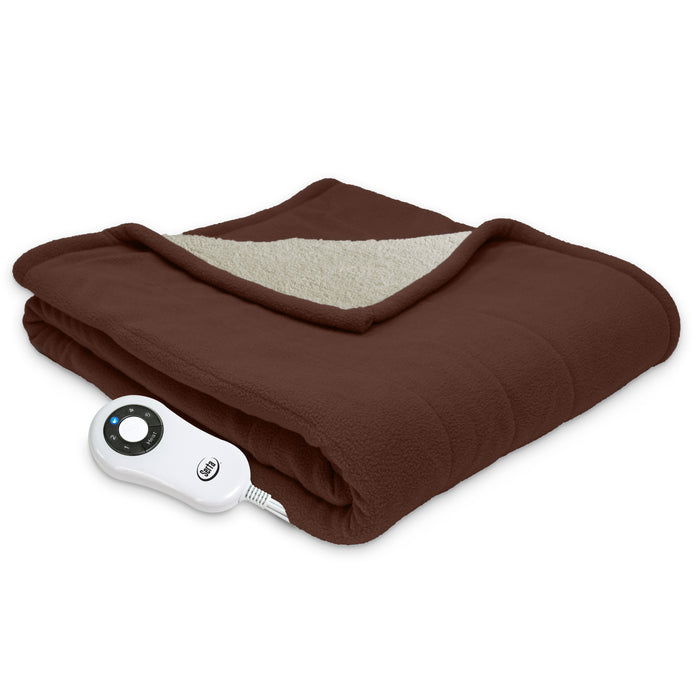 Serta® Micro fleece and Sherpa Throw - with 5 setting controller