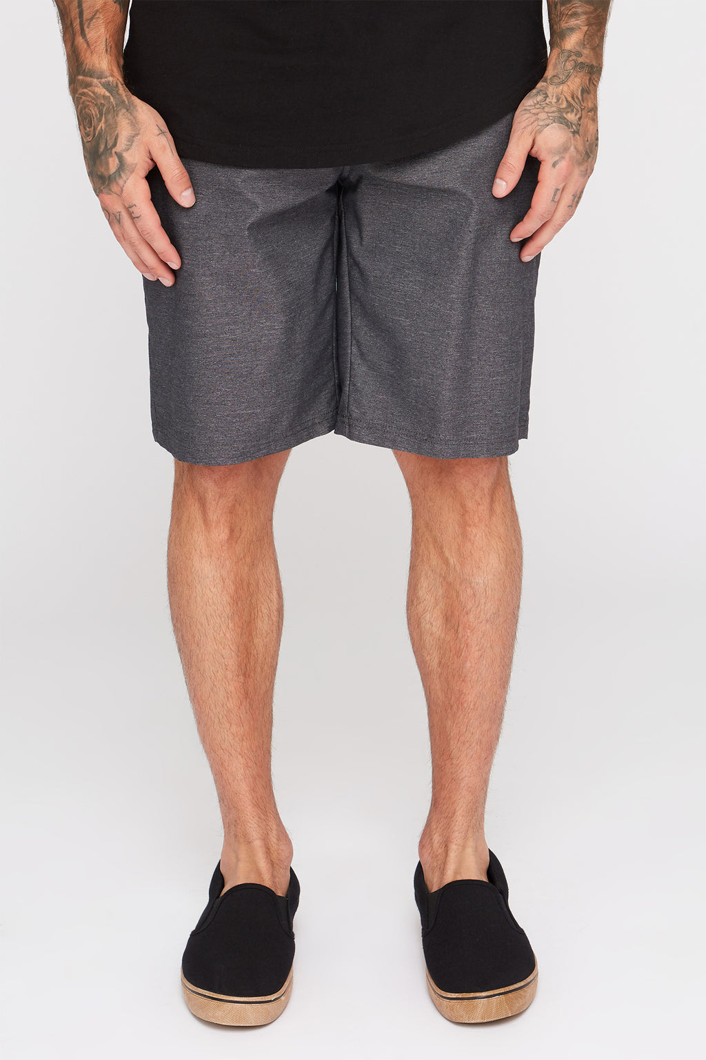 Zoo York Mens Solid Street Shorts