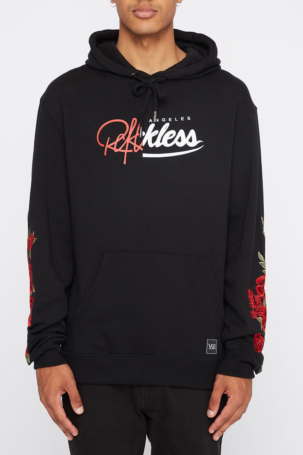 Young & Reckless Mens Embroidered Roses Hoodie