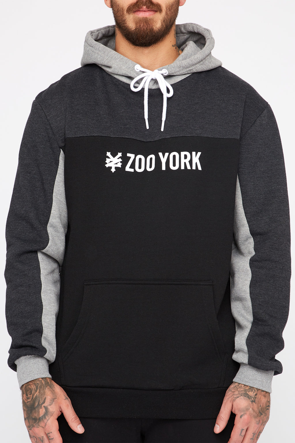 Zoo York Mens Colour Block Popover Hoodie