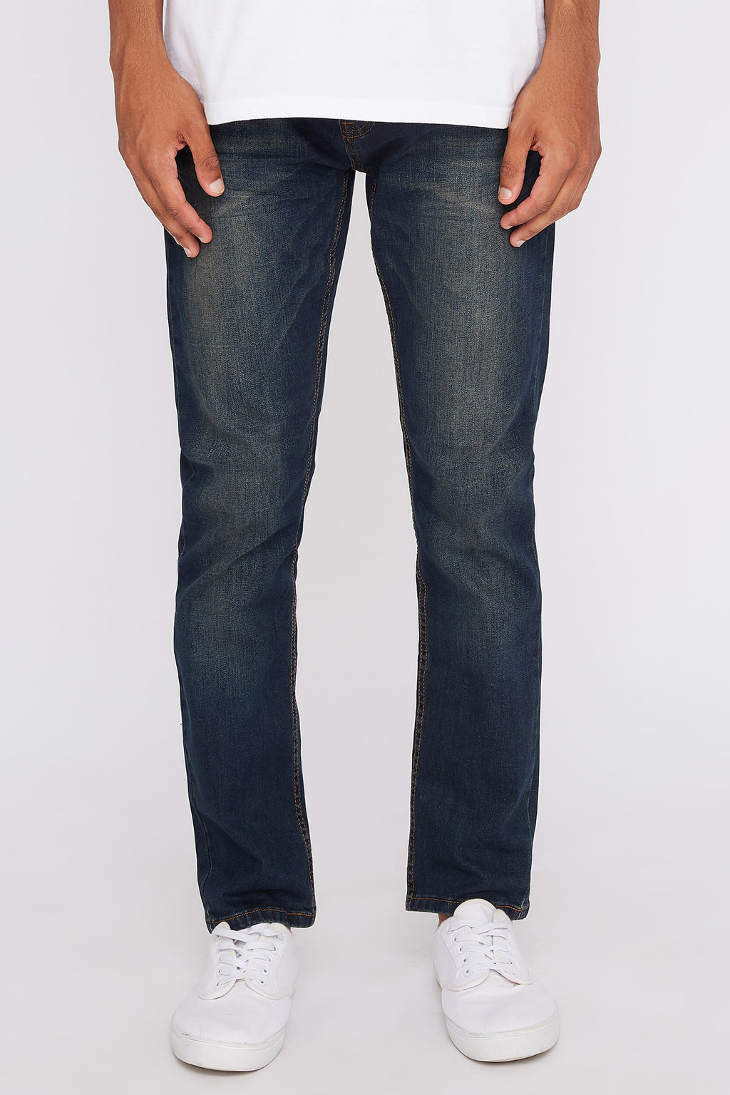 West49 Mens Dark Wash Stretch Slim Jeans