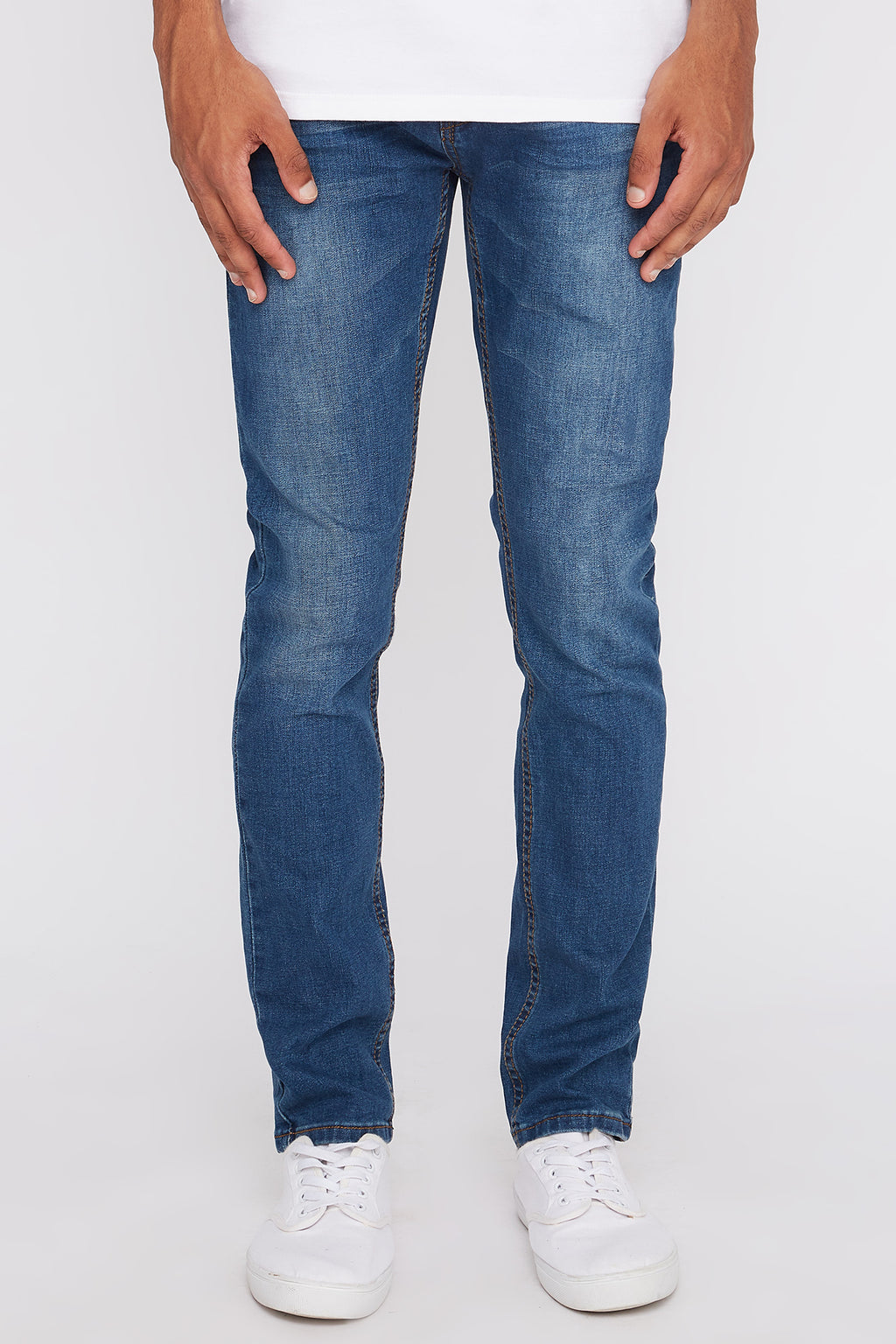 West49 Mens Dark Wash Stretch Skinny Jeans
