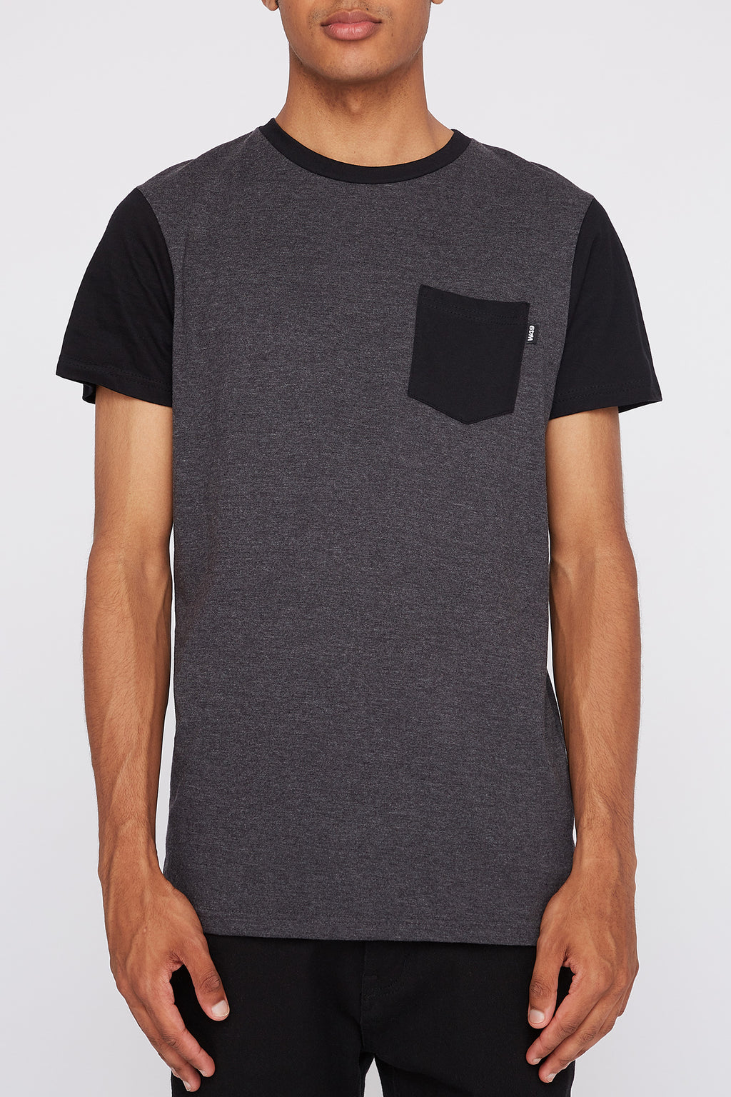 West49 Mens Contrast Colour Pocket T-Shirt