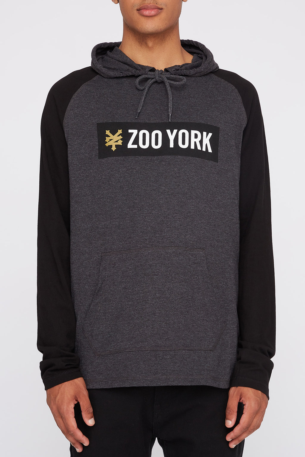 Zoo York Mens Colour Block Lightweight Hoodie