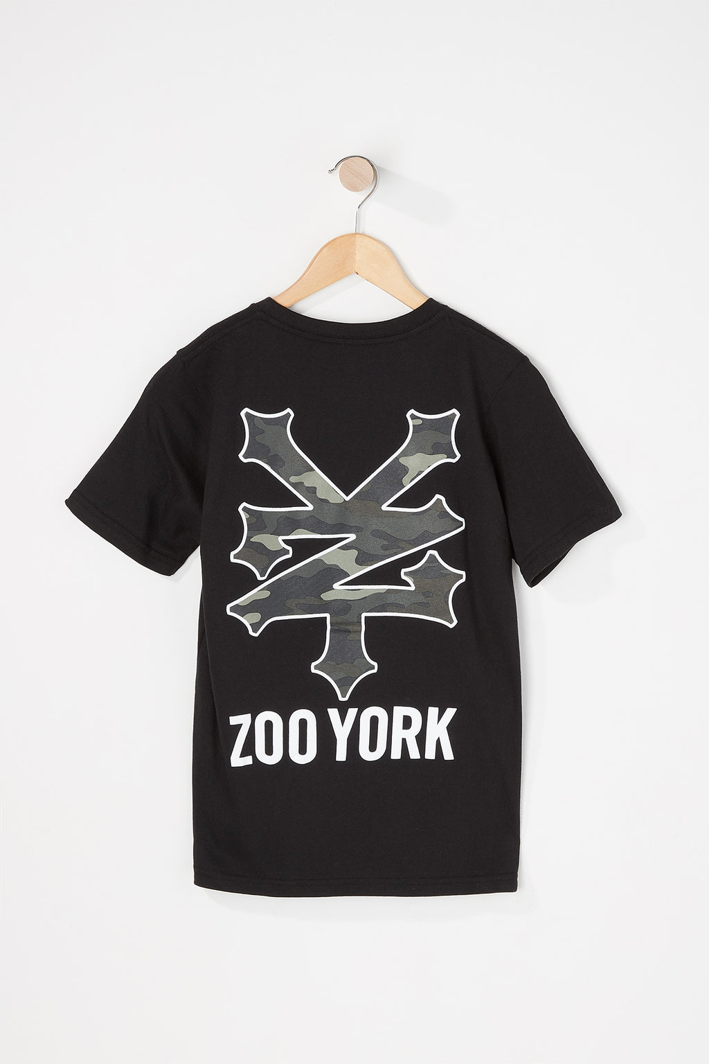 Zoo York Boys Camo Filled Logo T-Shirt