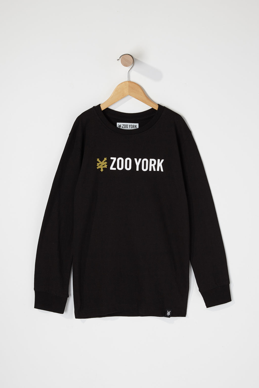 Zoo York Boys Black Box Logo Long Sleeve T-Shirt
