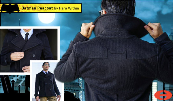 Hero Within Batman heavy peacoat