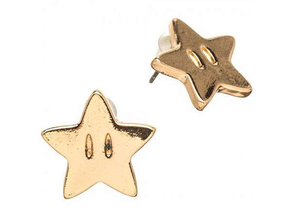 Super Mario Bros. Star Earrings