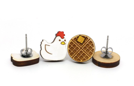 Chicken & Waffle Earrings