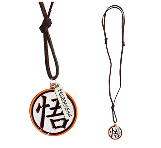 Dragon Ball Z Goku's Kanji with Leather Necklace