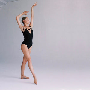 """Nolita"" Leotard Black Velvet"