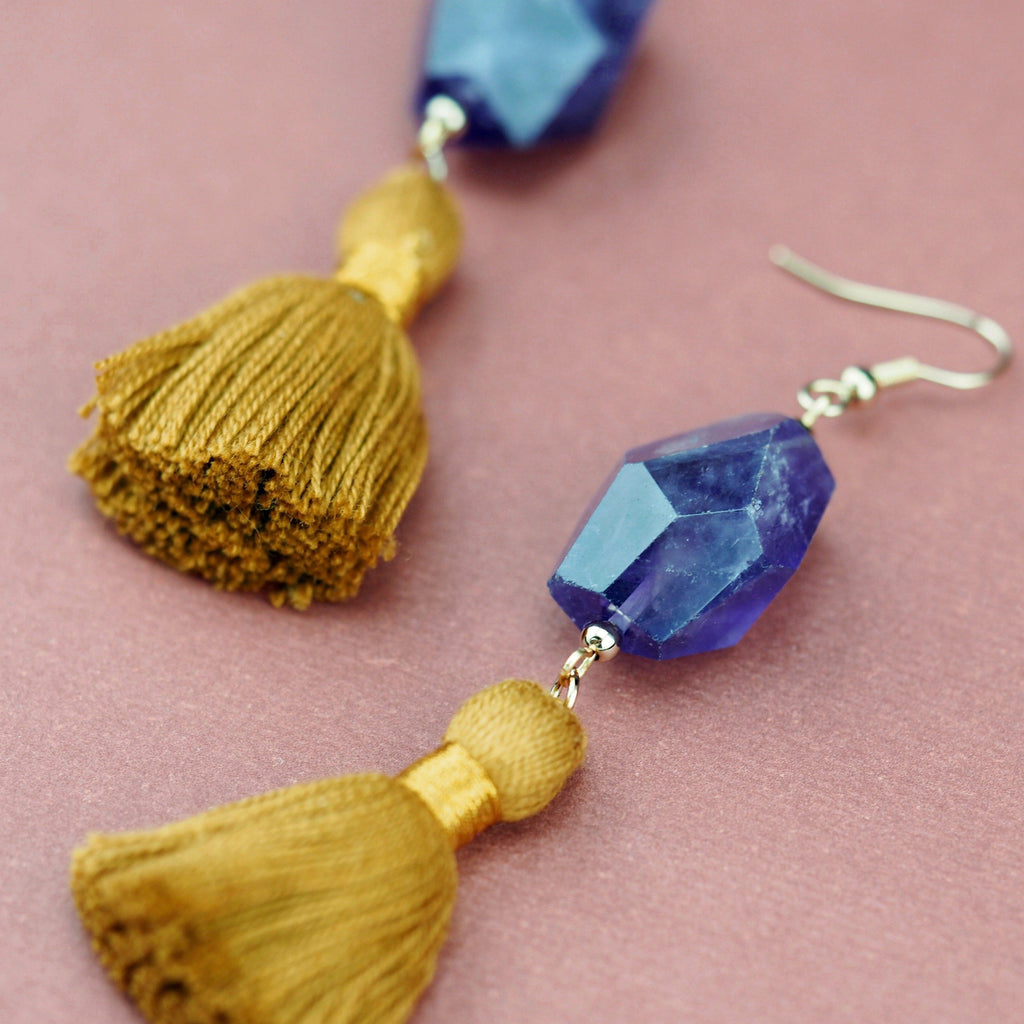 Arabella earrings in Amethyst