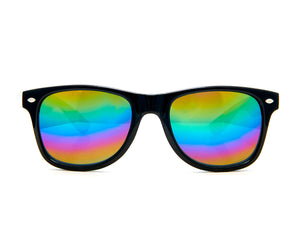 Pop Sunglasses - Black/Rainbow Mirror Lense