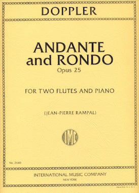 Andante and Rondo, Op. 25 (Two Flutes and Piano)