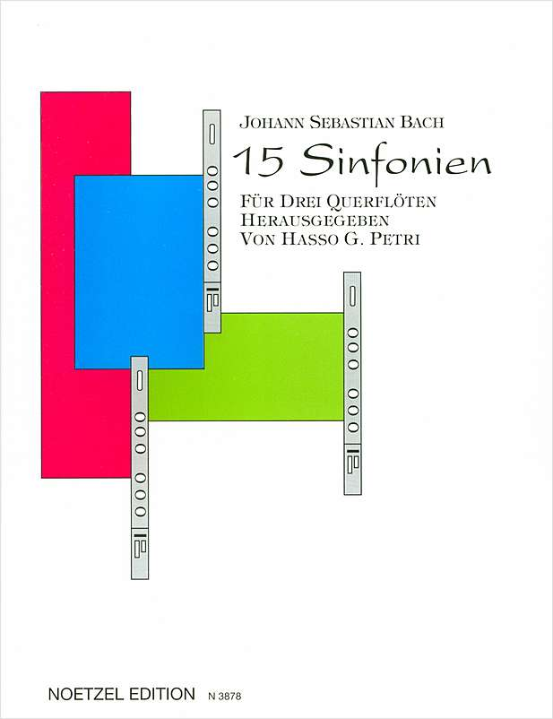 15 Sinfonien; BWV 787-801 (Three Flutes)