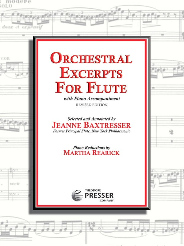 Orchestral Excerpts for Flute (Baxtresser)