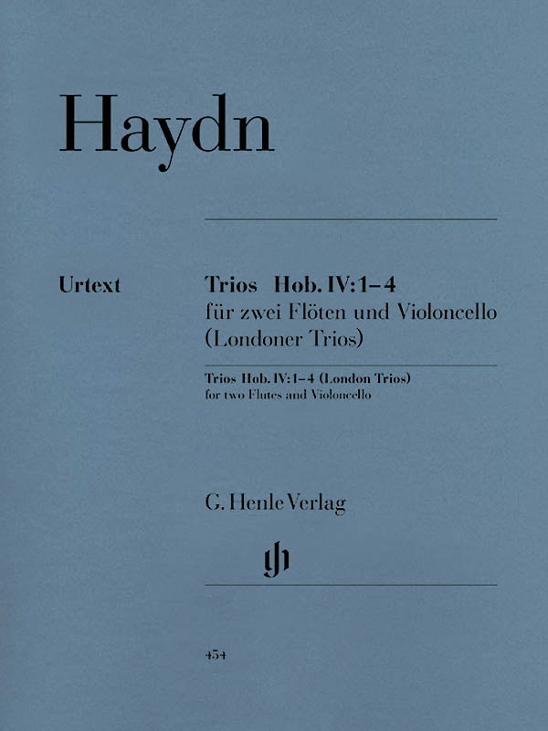 London Trios Hob. IV:1-4 (2 Flutes and Cello)